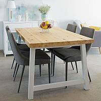 Стол обеденный «Family», деревянный стол на металлическом подстолье, стол для дома, стол на кухню