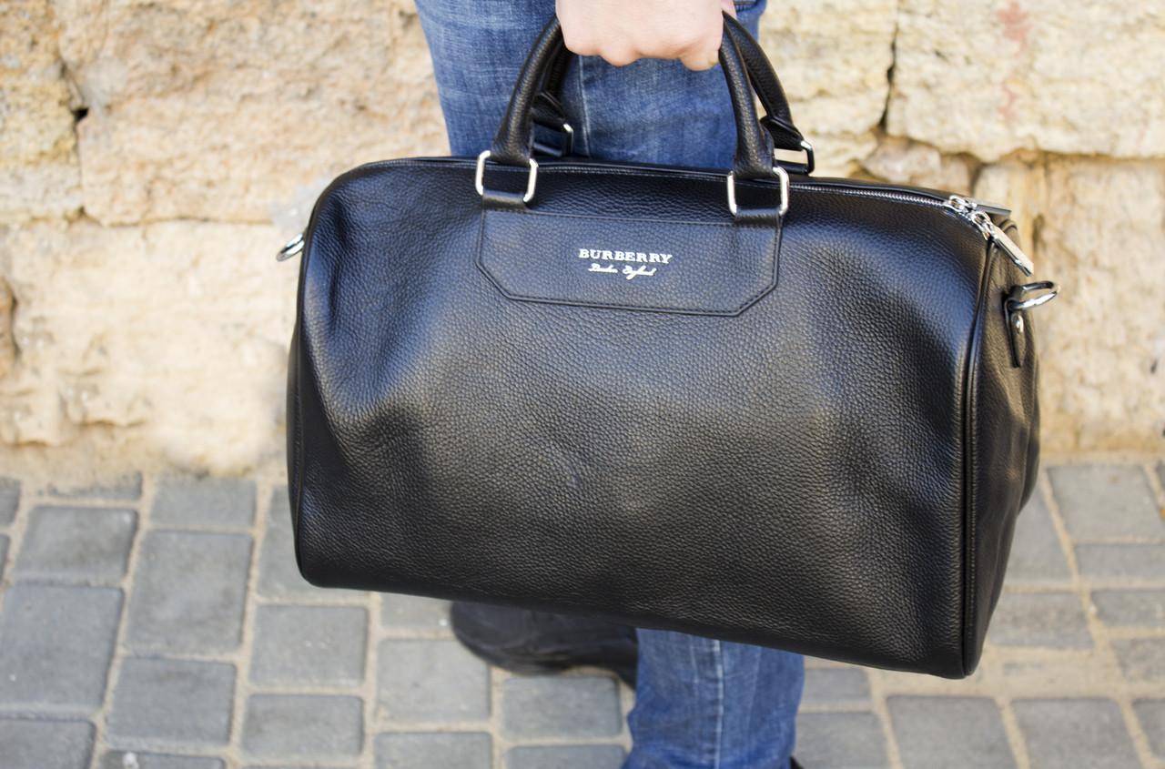 Дорожная сумка из натуральной кожи Burberry