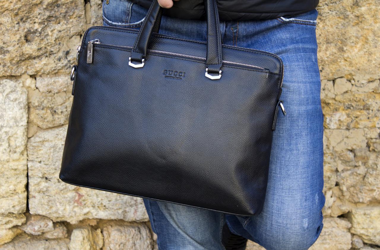Деловая сумка из натуральной кожи Gucci