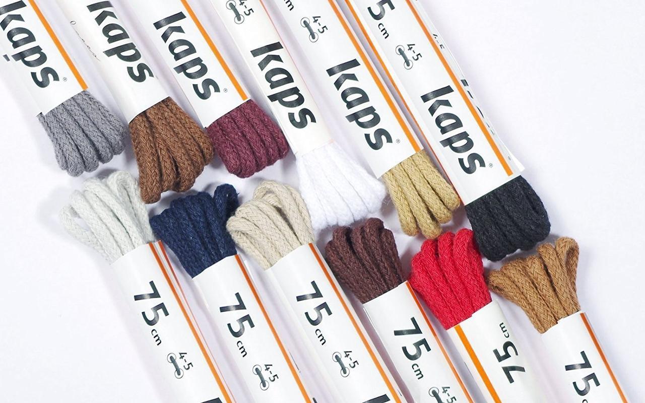 Шнурки для обуви Kaps тонкие  2 мм, круглые 45 см