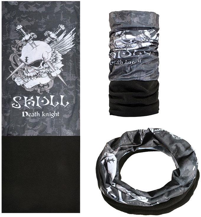 Зимняя мультиповязка (горловик) с флисом RockBros Skull Death knight