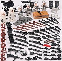 Военные фигурки,Германская армия Зима, World of War II военный конструктор, аналог лего, BrickArms, фото 2