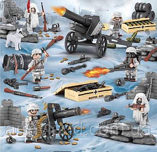 Военные фигурки,Германская армия Зима, World of War II военный конструктор, аналог лего, BrickArms