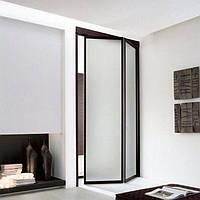 Двери книжка в проем со стеклом