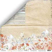 Лист двусторонней бумаги 30x30 от Scrapmir Осенние цветы из коллекции Falling in Love
