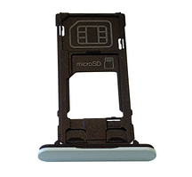 Sony F5321 Xperia X Compact Cap Tray Assy, Blue, original (PN:1304-1920)
