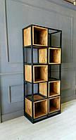 Стеллаж «Loft Mini» книжный шкаф, полка, полка книжная, зонирование пространства, зонирование помещения