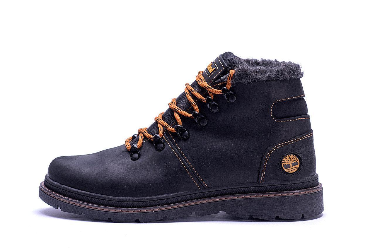 Мужские зимние кожаные ботинки Black р. 44