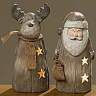 Дед мороз деревянный с подсветкой, фото 4