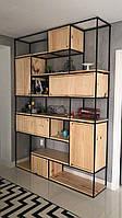 Стеллаж «Wall» книжный шкаф, полка, полка книжная, зонирование пространства, зонирование помещения, шкаф