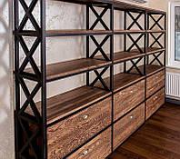 Стеллаж «Great wall» книжный шкаф, полка, полка книжная, зонирование пространства, зонирование помещения, шкаф