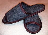Тапки-шлепанцы  из каракульской шерсти АНТИбактериальные