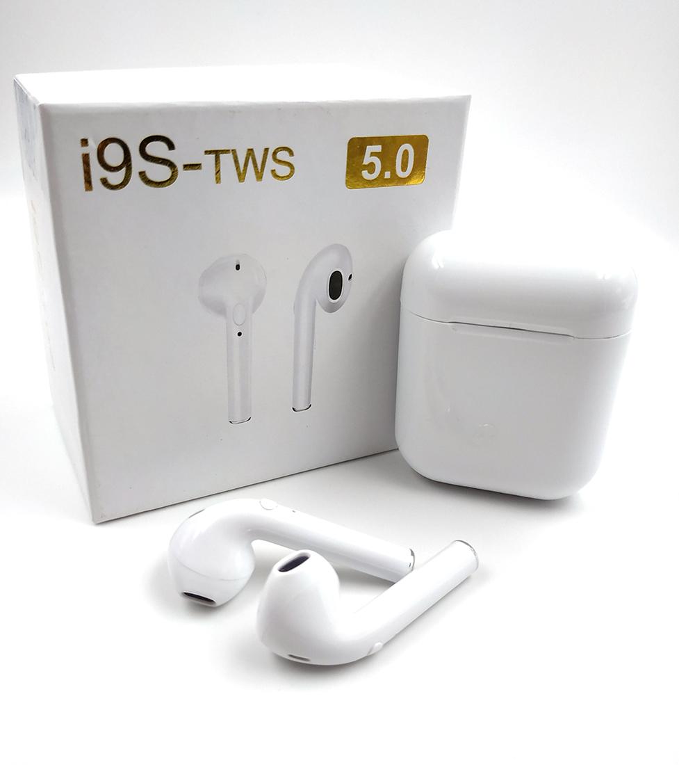 Беспроводные Наушники Airpods i9s Стерео Bluetooth TWS White+подарок защитный кейс