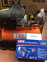 Компрессор LEX 50 л два двухцилиндровый 3.3 кВт 430 л/мин ГАРАНТИЯ Польша!