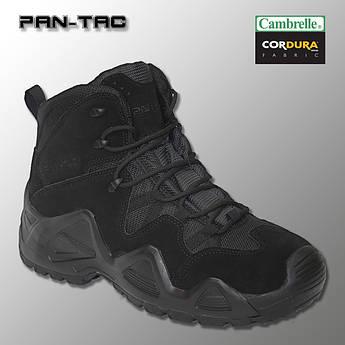 """🔥 Демисезонные тактические ботинки """"Pan-Tac - 5 дюймовые"""" (черные) берцы полиции, полицейские"""