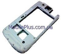 Samsung i9300 Средняя часть корпуса с окошком камеры, White, original (PN:GH98-23341B)