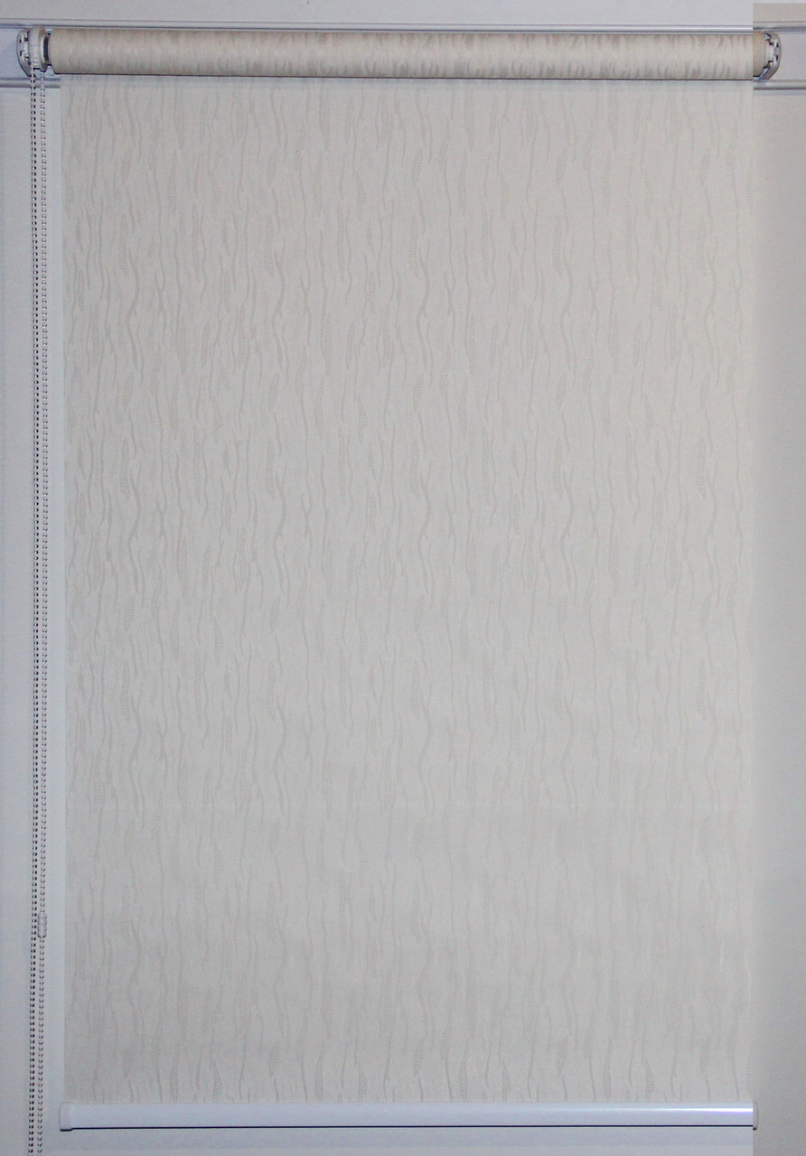 Готовые рулонные шторы 875*1500 Ткань Лазурь 2079 Кремовый
