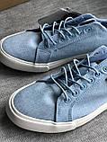 Натуральные кеды на 27 см голубого цвета бренд lamo, фото 6