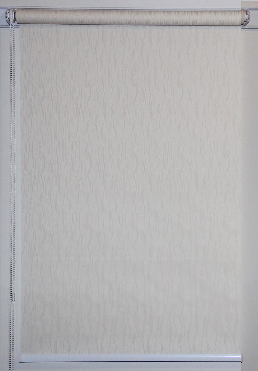 Готовые рулонные шторы 950*1500 Ткань Лазурь 2079 Кремовый