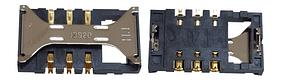 Разъем SIM-карты Samsung i8190, original (PN:3709-001701)
