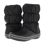 Сапоги зимние унисекс сноубутсы непромокаемые дутики / Crocs Winter Puff Boot (14614), Черные, фото 2