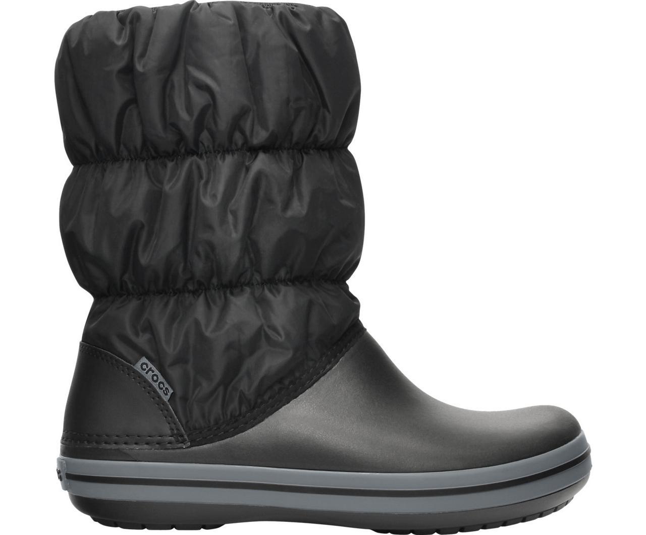 Сапоги зимние унисекс сноубутсы непромокаемые дутики / Crocs Winter Puff Boot (14614), Черные