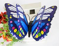 """Наклейка на стену, украшения стены наклейки с магнитами """" наклейки бабочки 3D с двойными крыльями 4шт набор"""""""