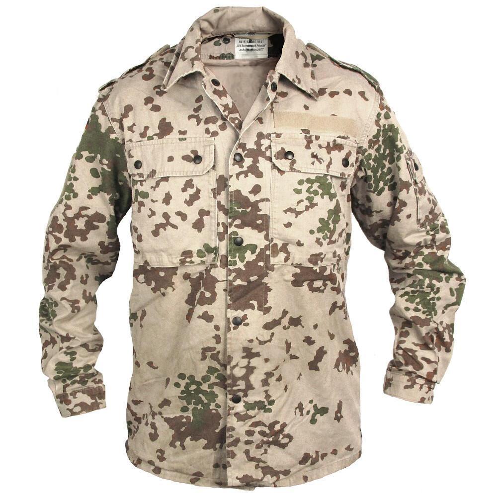 Оригинальная рубашка китель армии Бундесвера в расцветке тропентарн