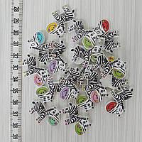 Декоративные пуговицы Веселые Зебры 20*30 мм