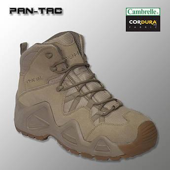 """🔥 Демисезонные тактические ботинки """"Pan-Tac - 5 дюймовые"""" (койот) берцы военные, трекинговые"""