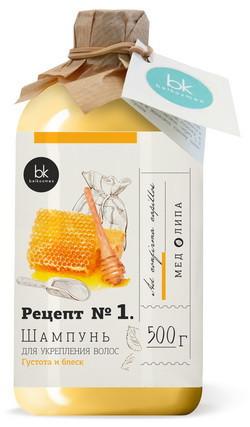Шампунь - Рецепт № 1 для укрепления волос густота и блеск BelKosmex 500мл. арт.9717