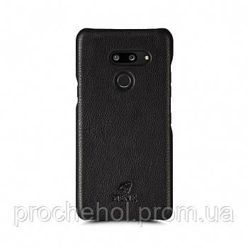 Кожаная накладка Stenk Cover для LG G8 ThinQ Черный
