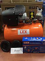 Компрессор LEX LXC 100 л два цилиндра 3,3 кВт 430л/мин ГАРАНТИЯ Польша