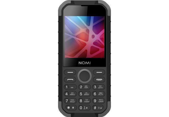 Телефон кнопочный защищенный с большим экраном и мощной батареей Nomi i285 X-Treme черно-серый