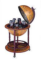 Глобус бар напольный коричневыйна 3 ножки