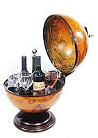 Глобус бар настольный 360 мм коричневый