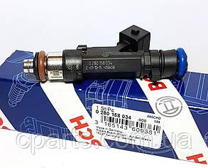Форсунка топливная Dacia Sandero 1.4-1.6 8V (Bosch 0280158034)(высокое качество)