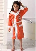 Натуральный махровый халат  Philippus для девочек