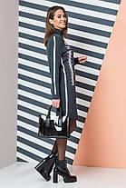 Красивое вязаное платье с орнаментом с 44 по 52 размер, фото 2