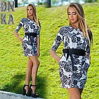 Платье с поясом  216 Гл