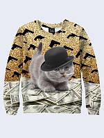 Свитшот Кот с долларами
