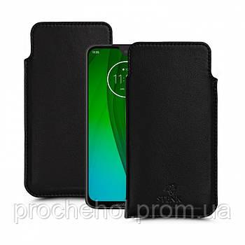 Футляр Stenk Elegance для Motorola Moto G7 Чёрный