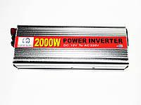 Инвертор преобразователь напряжения HANDA 12-220V 2000W Серый (hub_np2_1125)