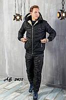 Костюм мужской зимний лыжный стеганый спортивный Philipp Plein, черный