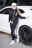 """Спортивный костюм """"Juventus"""" двойка для девочки, черный"""