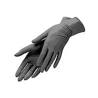 Перчатки смотровые нитриловые , черные, 5гр,M, 100 шт,Medicare,  Централмед