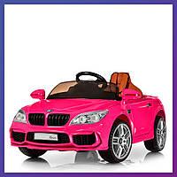 Детский электромобиль BMW c пультом Bambi M 2773 EBLRS-8 розовый | Дитячий електромобіль Бембі рожевий
