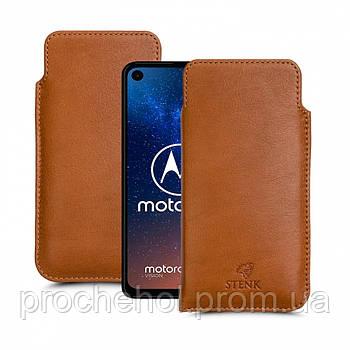 Футляр Stenk Elegance для Motorola One Vision Camel