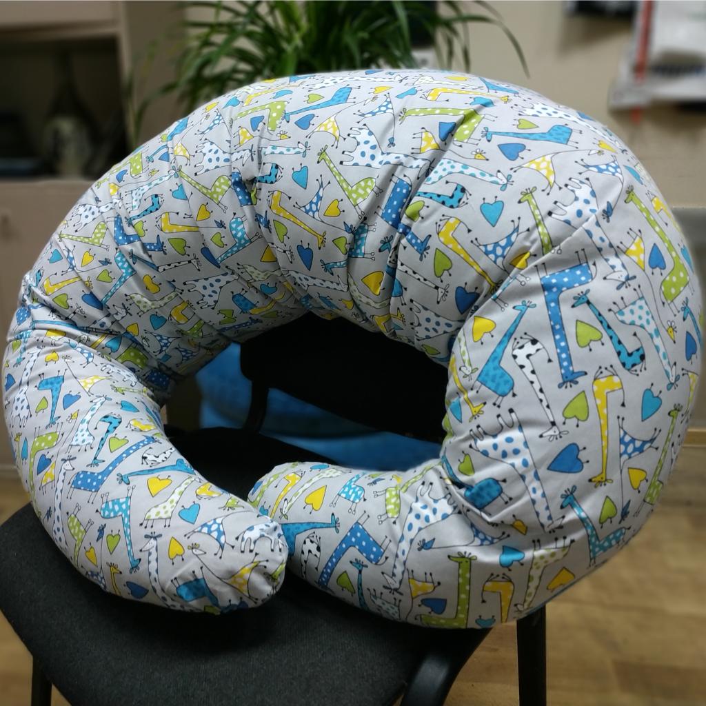 Подушка для вагітних, 110x210 см, (бавовна), Жирафи