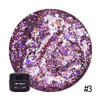 Гель для дизайна Shimmer Gel фиолетовый №03 NUB 5 г.